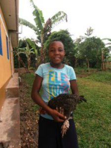 Jane schenkt uns ein Huhn